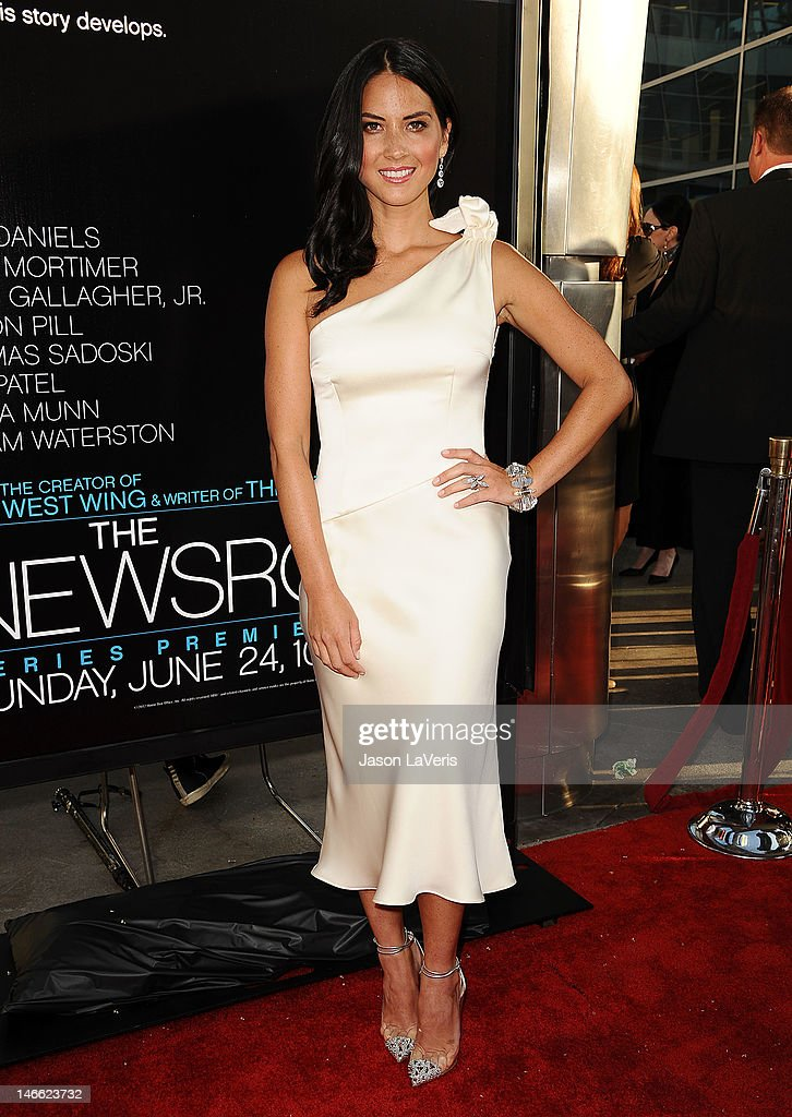Actress Olivia Munn attends the premiere of HBO's 'Newsroom' at ArcLight Cinemas Cinerama Dome on June 20, 2012 in Hollywood, California.