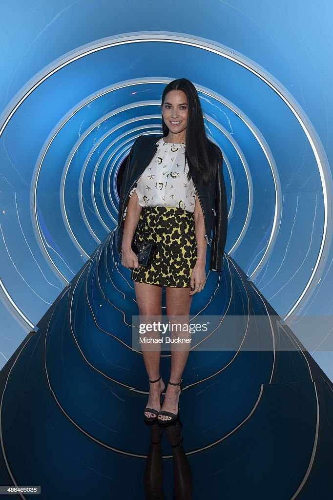 Actress Olivia Munn attends the Samsung Galaxy S 6 edge launch on April 2 2015 in Los Angeles California