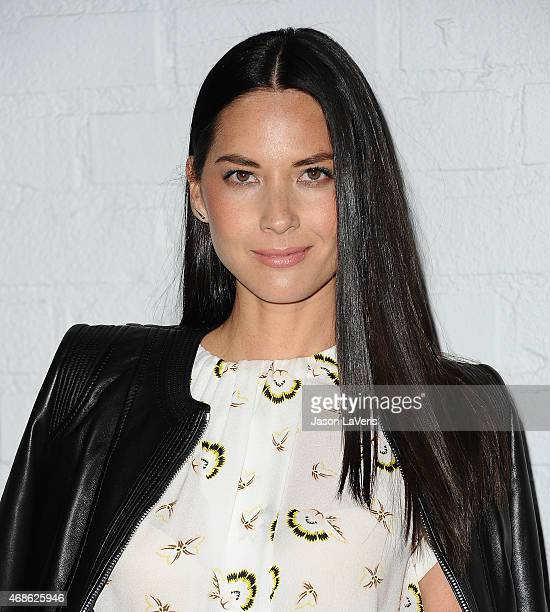 Actress Olivia Munn attends the Samsung launch of the Galaxy S 6 and Galaxy S 6 Edge at Quixote Studios on April 2 2015 in Los Angeles California