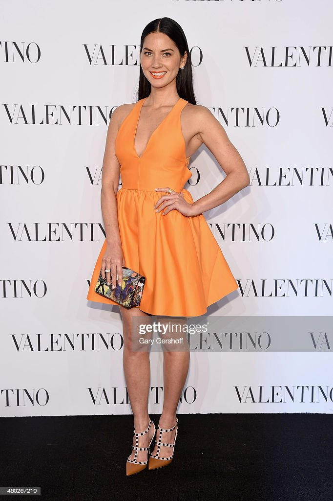Actress Olivia Munn attends the Valentino Sala Bianca 945 Event on December 10, 2014 in New York City.