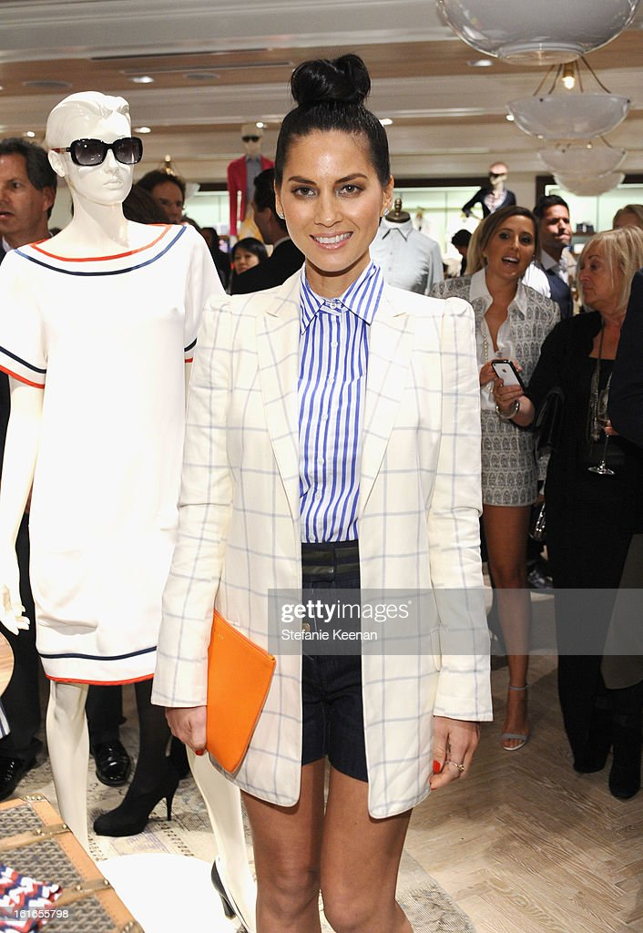 Actress Olivia Munn attends Tommy Hilfiger New West Coast Flagship Opening on Robertson Boulevard on February 13, 2013 in West Hollywood, California.