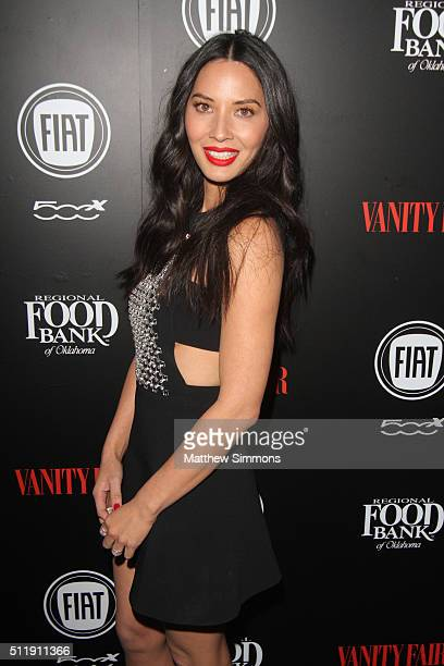 Actress Olivia Munn attends Vanity Fair and FIAT Young Hollywood Celebration at Chateau Marmont on February 23 2016 in Los Angeles California