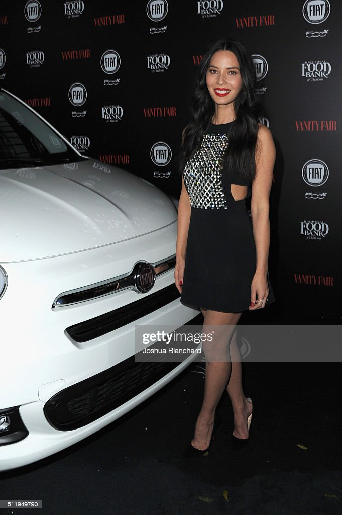 Actress Olivia Munn attends Vanity Fair and FIAT Young Hollywood Celebration at Chateau Marmont on February 23, 2016 in Los Angeles, California.