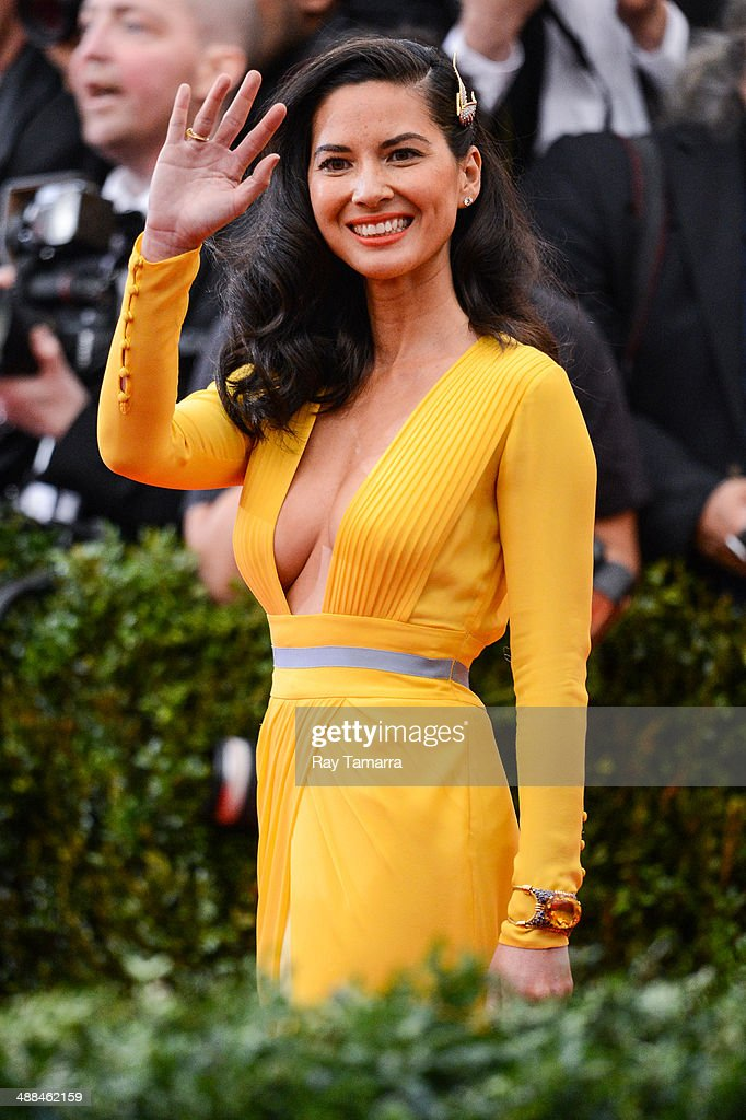Actress Olivia Munn enters the 'Charles James: Beyond Fashion' Costume Institute Gala at the Metropolitan Museum of Art on May 5, 2014 in New York City.