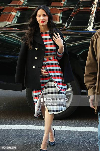 Actress Olivia Munn is seen on January 13 2016 in New York City