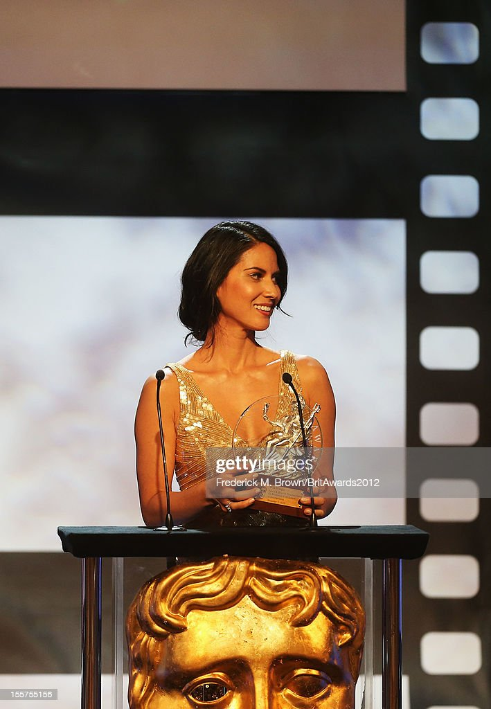 Actress Olivia Munn onstage at the 2012 BAFTA Los Angeles Britannia Awards Presented By BBC AMERICA at The Beverly Hilton Hotel on November 7, 2012 in Beverly Hills, California.