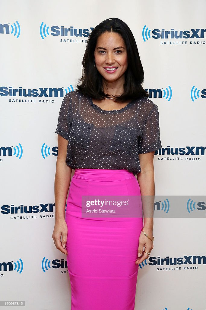 Actress Olivia Munn visits the SiriusXM Studios on June 20, 2013 in New York City.