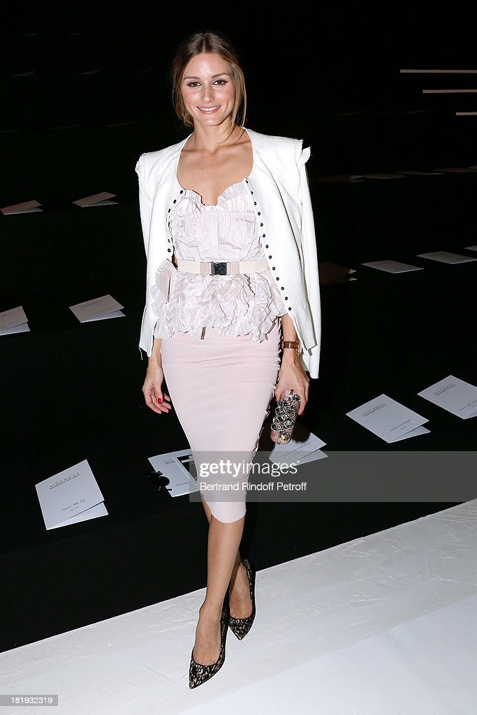 Actress <a gi-track='captionPersonalityLinkClicked' href=/galleries/search?phrase=Olivia+Palermo&family=editorial&specificpeople=2639086 ng-click='$event.stopPropagation()'>Olivia Palermo</a> dressed in Nina Ricci attends Nina Ricci show as part of the Paris Fashion Week Womenswear Spring/Summer 2014, held at Garden of Tuilleries on September 26, 2013 in Paris, France.