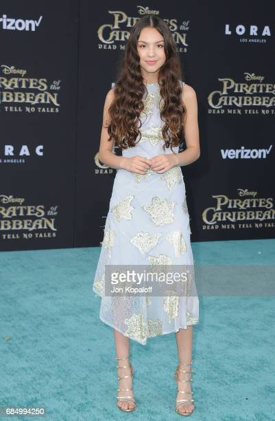 Actress Olivia Rodrigo arrives at the Los Angeles Premiere 'Pirates Of The Caribbean Dead Men Tell No Tales' at Dolby Theatre on May 18 2017 in...