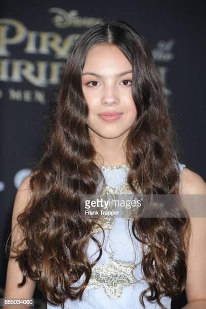 Actress Olivia Rodrigo arrives at the premiere of Disney's 'Pirates of the Caribbean Dead Men Tell No Tales' at the Dolby Theatre on May 18 2017 in...