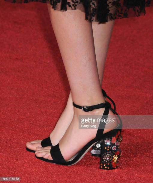 Actress Olivia Rodrigo shoe detail attends the World premiere of Disney and Marvel's 'Thor Ragnarok' at El Capitan Theatre on October 10 2017 in Los...