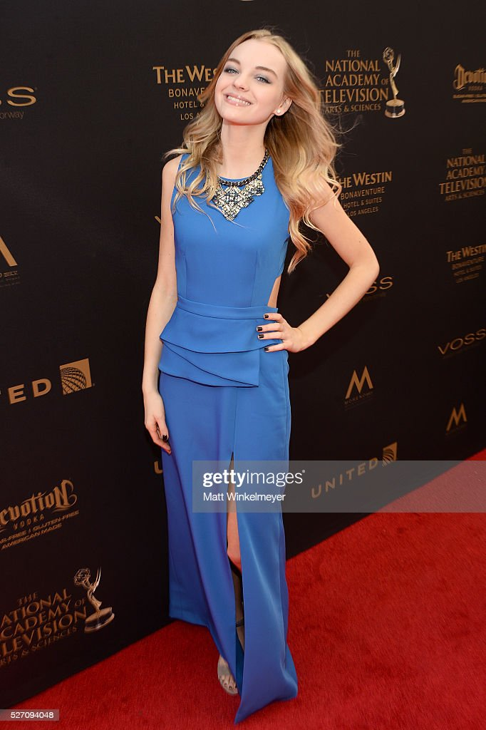 Actress Olivia Rose Keegan walks the red carpet at the 43rd Annual Daytime Emmy Awards at the Westin Bonaventure Hotel on May 1, 2016 in Los Angeles, California.