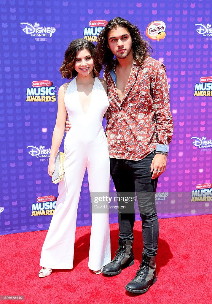 Actress Olivia Stuck (L) and actor Nathan Harrington attend the 2016 Radio Disney Music Awards at Microsoft Theater on April 30, 2016 in Los Angeles, California.