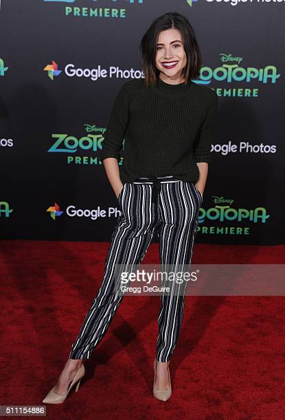 Actress Olivia Stuck arrives at the premiere of Walt Disney Animation Studios' 'Zootopia' at the El Capitan Theatre on February 17 2016 in Hollywood...