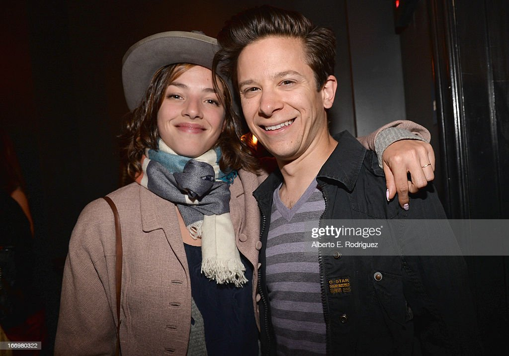 Actress Olivia Thirlby and guest attend the after party for the premiere of Cinedigm's 'Arthur Newman' at on April 18, 2013 in Hollywood, California.
