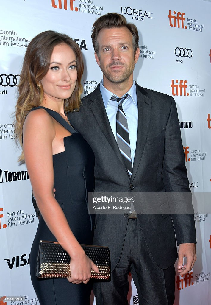 Actress Olivia Wilde and Jason Sudeikis attend the 'Rush' premiere during the 2013 Toronto International Film Festival at Roy Thomson Hall on September 8, 2013 in Toronto, Canada.