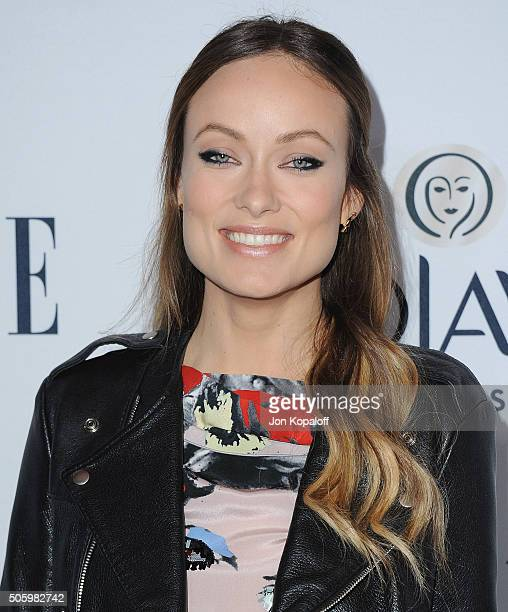Actress Olivia Wilde arrives at ELLE's 6th Annual Women In Television Dinner at Sunset Tower Hotel on January 20 2016 in West Hollywood California