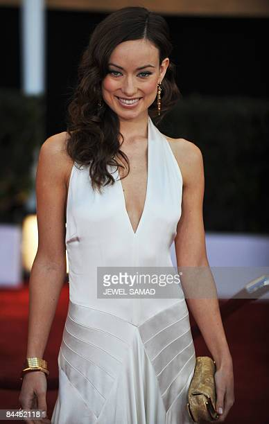 Actress Olivia Wilde arrives at the 15th Annual Screen Actors Guild Awards at the Shrine Auditorium in Los Angeles California on January 25 2009 AFP...