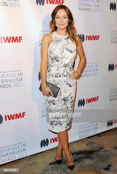 Actress Olivia Wilde arrives at the 2013 International Women's Media Foundation's Courage In Journalism Awards at Beverly Hills Hotel on October 29...