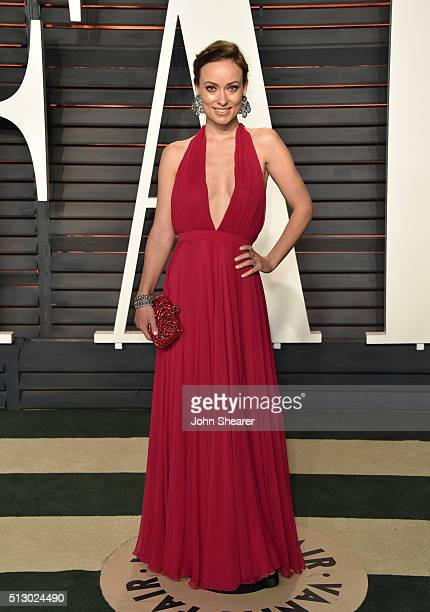 Actress Olivia Wilde arrives at the 2016 Vanity Fair Oscar Party Hosted By Graydon Carter at Wallis Annenberg Center for the Performing Arts on...