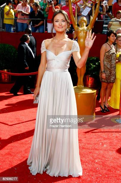 Actress Olivia Wilde arrives at the 60th Primetime Emmy Awards held at Nokia Theatre on September 21 2008 in Los Angeles California