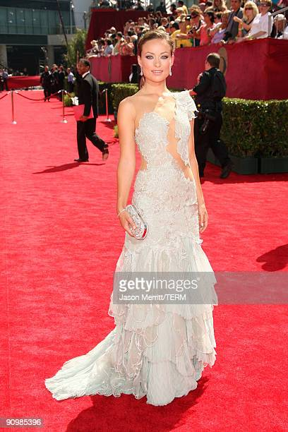 Actress Olivia Wilde arrives at the 61st Primetime Emmy Awards held at the Nokia Theatre on September 20 2009 in Los Angeles California