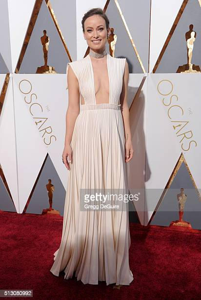Actress Olivia Wilde arrives at the 88th Annual Academy Awards at Hollywood Highland Center on February 28 2016 in Hollywood California