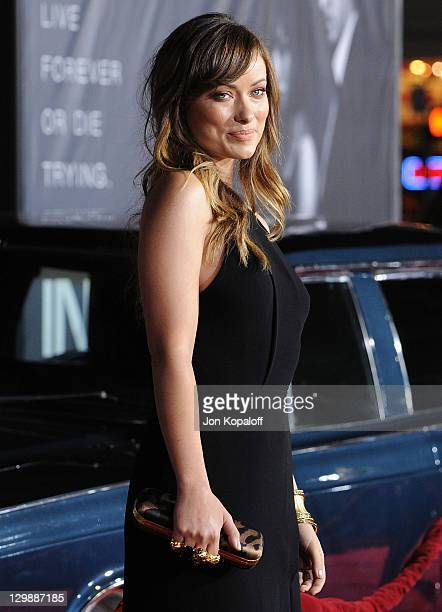 Actress Olivia Wilde arrives at the Los Angeles Premiere 'In Time' at Regency Village Theatre on October 20 2011 in Westwood California