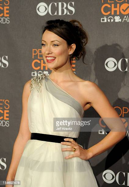 Actress Olivia Wilde arrives at the People's Choice Awards 2010 held at Nokia Theatre LA Live on January 6 2010 in Los Angeles California