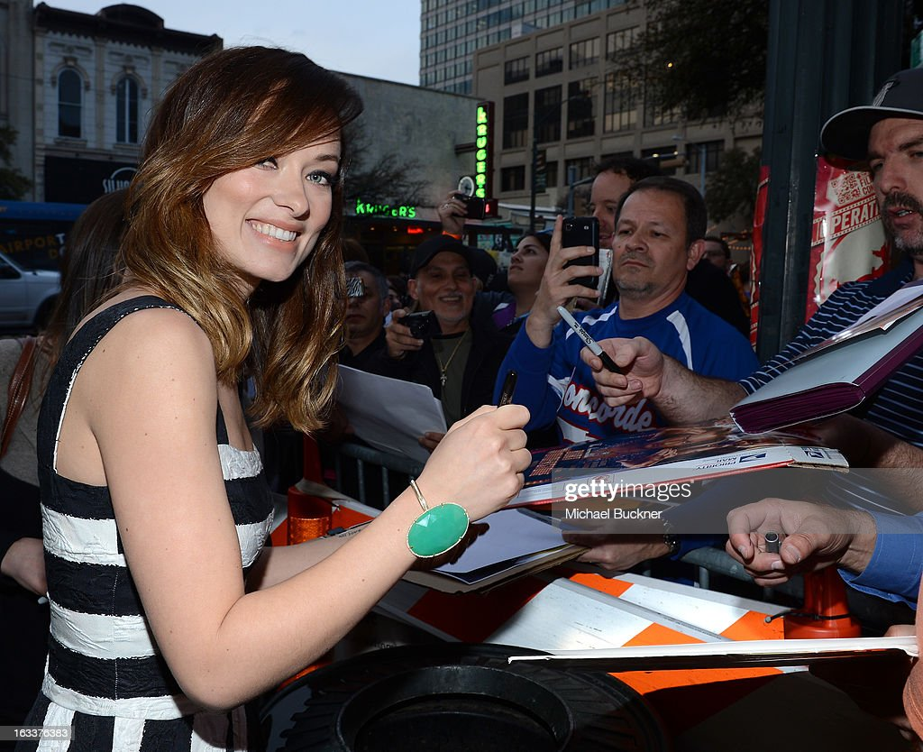 Actress <a gi-track='captionPersonalityLinkClicked' href=/galleries/search?phrase=Olivia+Wilde&family=editorial&specificpeople=235399 ng-click='$event.stopPropagation()'>Olivia Wilde</a> arrives at the screening of 'The Incredible Burt Wonderstone' during the 2013 SXSW Music, Film + Interactive Festival at the Paramount Theatre on March 8, 2013 in Austin, Texas.