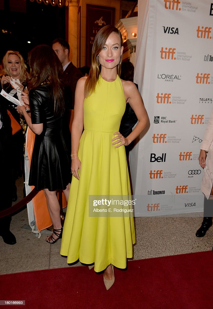 Actress <a gi-track='captionPersonalityLinkClicked' href=/galleries/search?phrase=Olivia+Wilde&family=editorial&specificpeople=235399 ng-click='$event.stopPropagation()'>Olivia Wilde</a> arrives at the 'Third Person' Premiere during the 2013 Toronto International Film Festival at The Elgin on September 9, 2013 in Toronto, Canada.