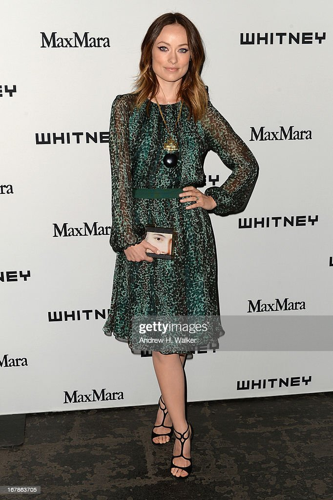 Actress <a gi-track='captionPersonalityLinkClicked' href=/galleries/search?phrase=Olivia+Wilde&family=editorial&specificpeople=235399 ng-click='$event.stopPropagation()'>Olivia Wilde</a> arrives at the Whitney Museum Annual Art Party on May 1, 2013 in New York City.