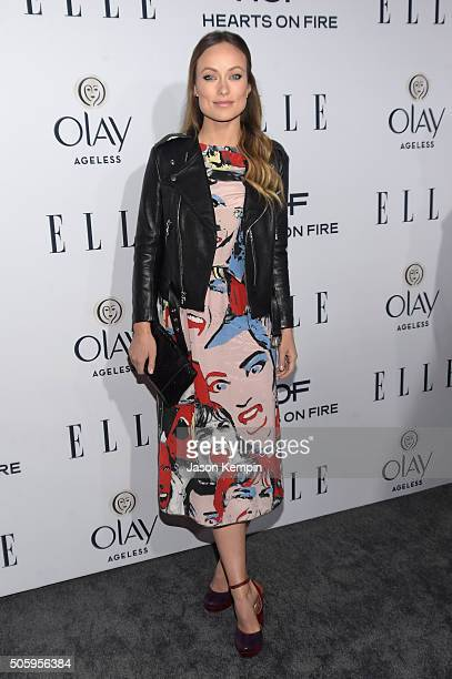Actress Olivia Wilde attends ELLE's 6th Annual Women in Television Dinner Presented by Hearts on Fire Diamonds and Olay at Sunset Tower on January 20...