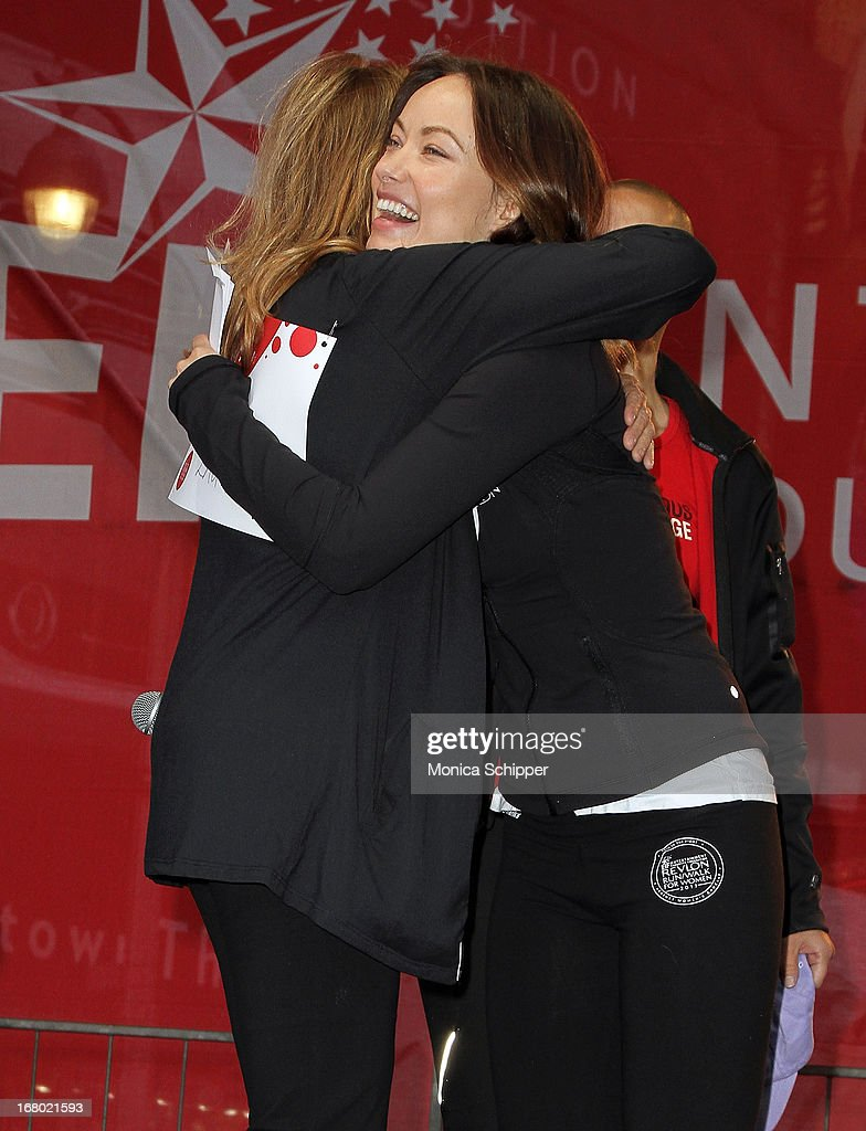 Actress <a gi-track='captionPersonalityLinkClicked' href=/galleries/search?phrase=Olivia+Wilde&family=editorial&specificpeople=235399 ng-click='$event.stopPropagation()'>Olivia Wilde</a> attends the 16th annual EIF Revlon Run/Walk for Women in Times Square on May 4, 2013 in New York City.