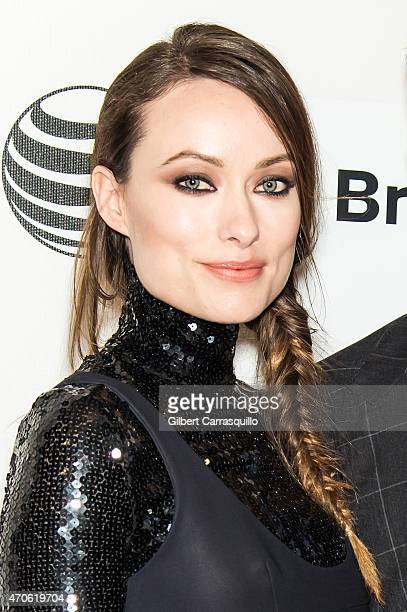 Actress Olivia Wilde attends the 2015 Tribeca Film Festival New York Premiere 'Sleeping With Other People' at BMCC Tribeca PAC on April 21 2015 in...