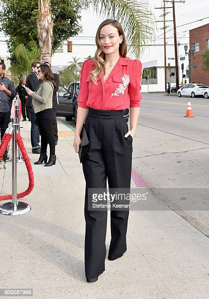 Actress Olivia Wilde attends the 24th annual Women in Entertainment Breakfast hosted by The Hollywood Reporter at Milk Studios on December 9 2015 in...