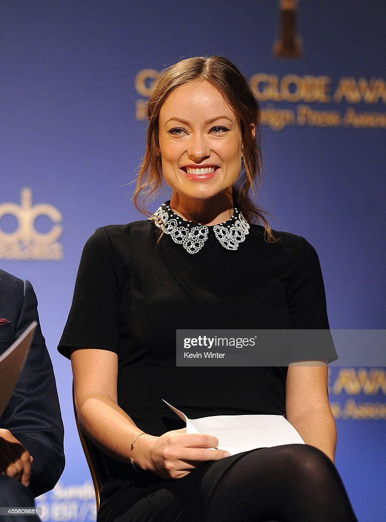 Actress <a gi-track='captionPersonalityLinkClicked' href=/galleries/search?phrase=Olivia+Wilde&family=editorial&specificpeople=235399 ng-click='$event.stopPropagation()'>Olivia Wilde</a> attends the 71st Golden Globe Awards Nominations Announcement at The Beverly Hilton Hotel on December 12, 2013 in Beverly Hills, California.