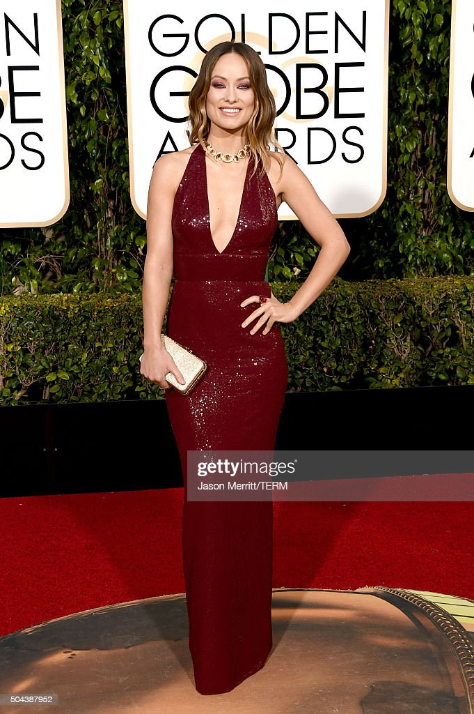 Actress Olivia Wilde attends the 73rd Annual Golden Globe Awards held at the Beverly Hilton Hotel on January 10 2016 in Beverly Hills California