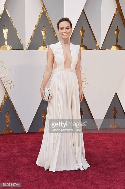 Actress Olivia Wilde attends the 88th Annual Academy Awards at Hollywood Highland Center on February 28 2016 in Hollywood California