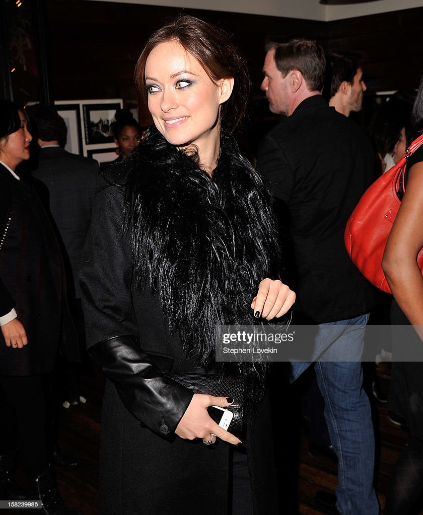 Actress <a gi-track='captionPersonalityLinkClicked' href=/galleries/search?phrase=Olivia+Wilde&family=editorial&specificpeople=235399 ng-click='$event.stopPropagation()'>Olivia Wilde</a> attends the after party for a screening 'Django Unchained' hosted by The Weinstein Company With The Hollywood Reporter, Samsung Galaxy And The Cinema Society at The High Line Room in The Standard Hotel on December 11, 2012 in New York City.