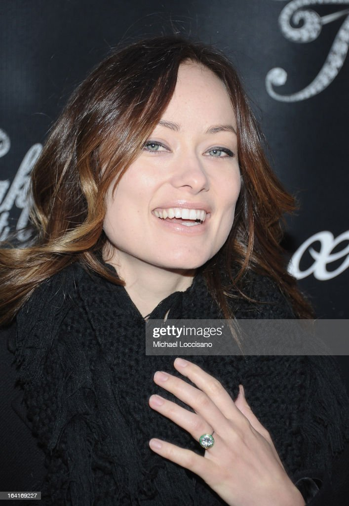 Actress <a gi-track='captionPersonalityLinkClicked' href=/galleries/search?phrase=Olivia+Wilde&family=editorial&specificpeople=235399 ng-click='$event.stopPropagation()'>Olivia Wilde</a> attends the 'Breakfast At Tiffany's' Broadway Opening Night at Cort Theatre on March 20, 2013 in New York City.