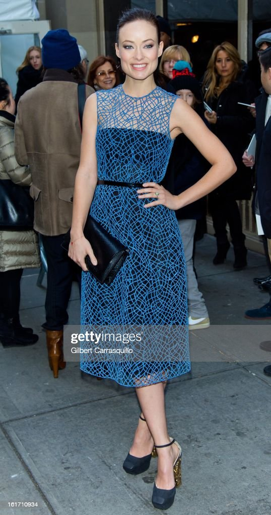 Actress Olivia Wilde attends the Calvin Klein Collection 2013 Mercedes-Benz Fashion Show at 205 West 39th Street on February 14, 2013 in New York City.