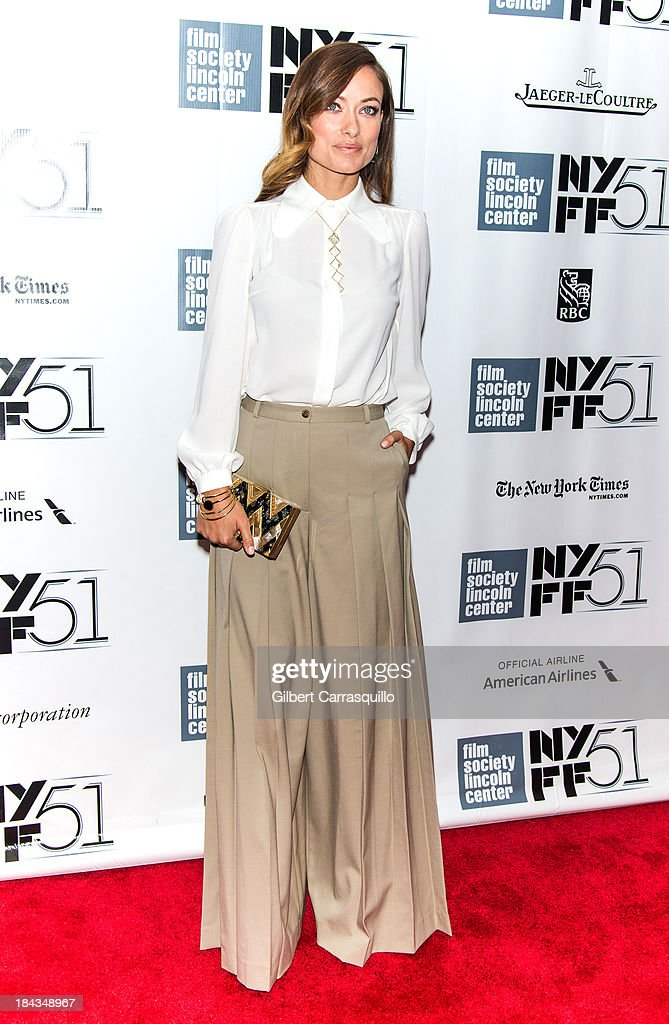 Actress <a gi-track='captionPersonalityLinkClicked' href=/galleries/search?phrase=Olivia+Wilde&family=editorial&specificpeople=235399 ng-click='$event.stopPropagation()'>Olivia Wilde</a> attends the Closing Night Gala Presentation Of 'Her' during the 51st New York Film Festival at Alice Tully Hall at Lincoln Center on October 12, 2013 in New York City.