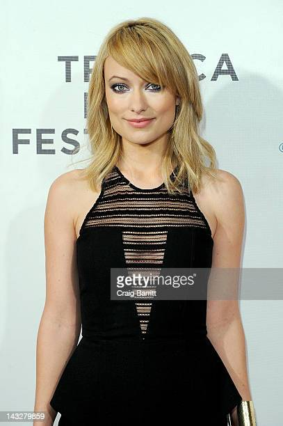 Actress Olivia Wilde attends the 'DeadFall' Premiere during the 2012 Tribeca Film Festival at the Borough of Manhattan Community College on April 22...