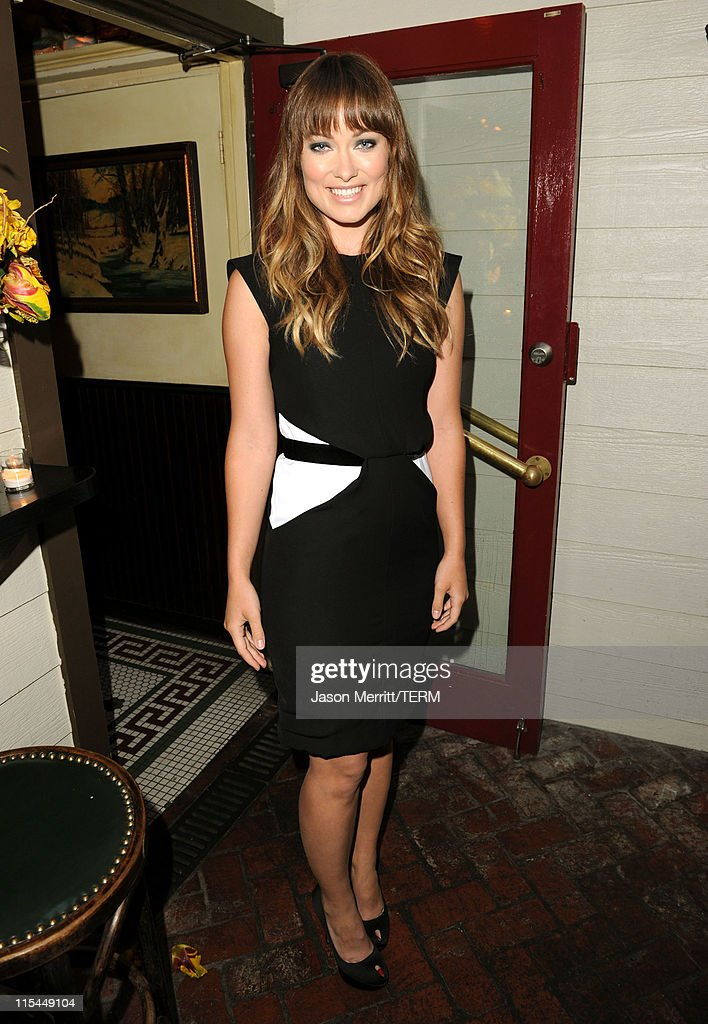 Actress <a gi-track='captionPersonalityLinkClicked' href=/galleries/search?phrase=Olivia+Wilde&family=editorial&specificpeople=235399 ng-click='$event.stopPropagation()'>Olivia Wilde</a> attends the Details Magazine/ Ryan Reynolds Party held at Dominick's Restaurant on June 6, 2011 in Los Angeles, California.