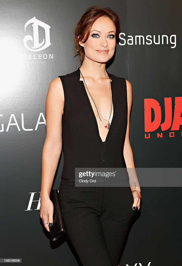 Actress Olivia Wilde attends the Django Unchained NY premiere at Ziegfeld Theatre on December 11, 2012 in New York City.