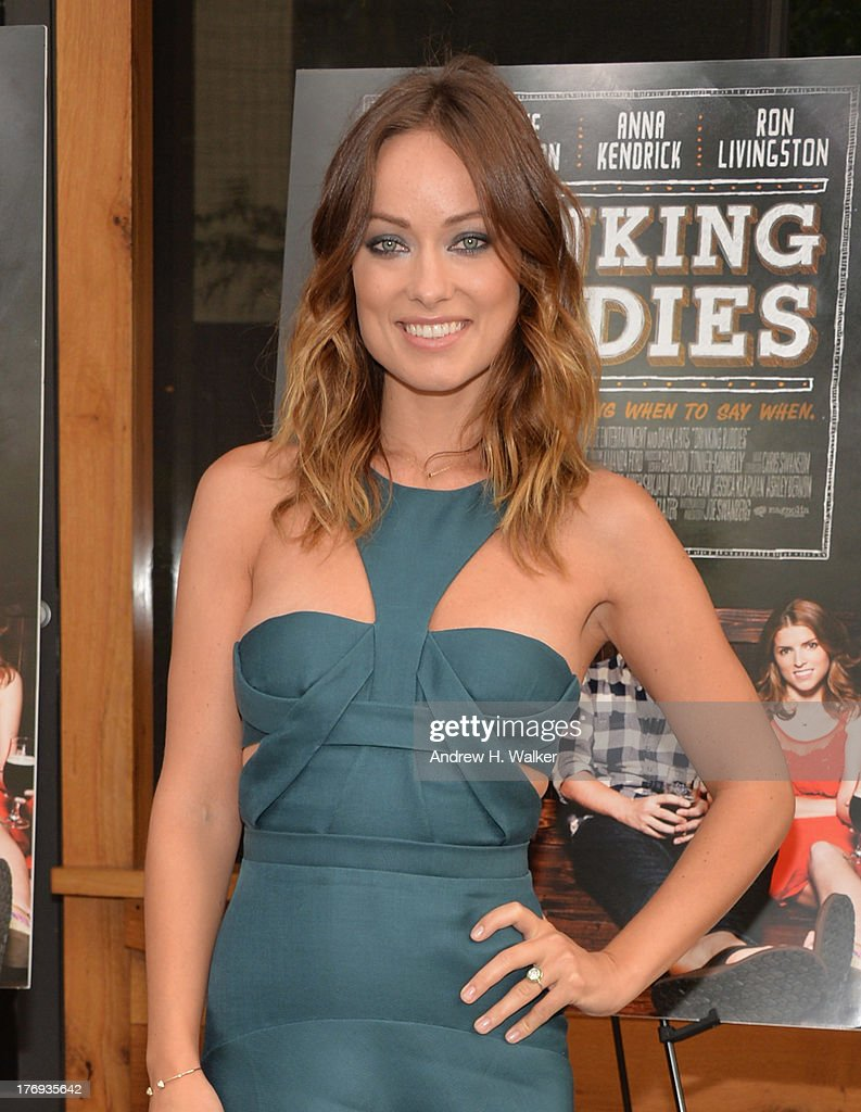 Actress Olivia Wilde attends the 'Drinking Buddies' screening at Nitehawk Cinema on August 19, 2013 in the Brooklyn borough of New York City.