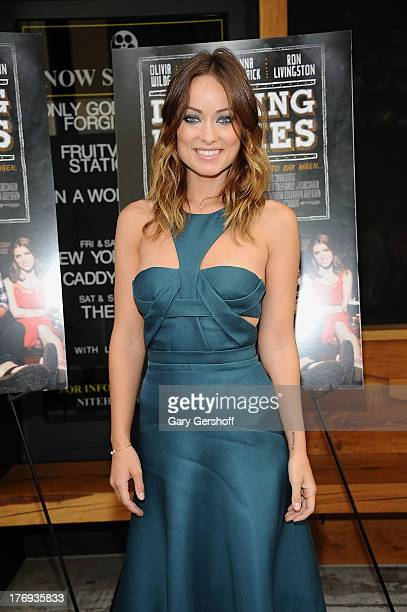 Actress Olivia Wilde attends the 'Drinking Buddies' screening at Nitehawk Cinema on August 19 2013 in the Brooklyn borough of New York City