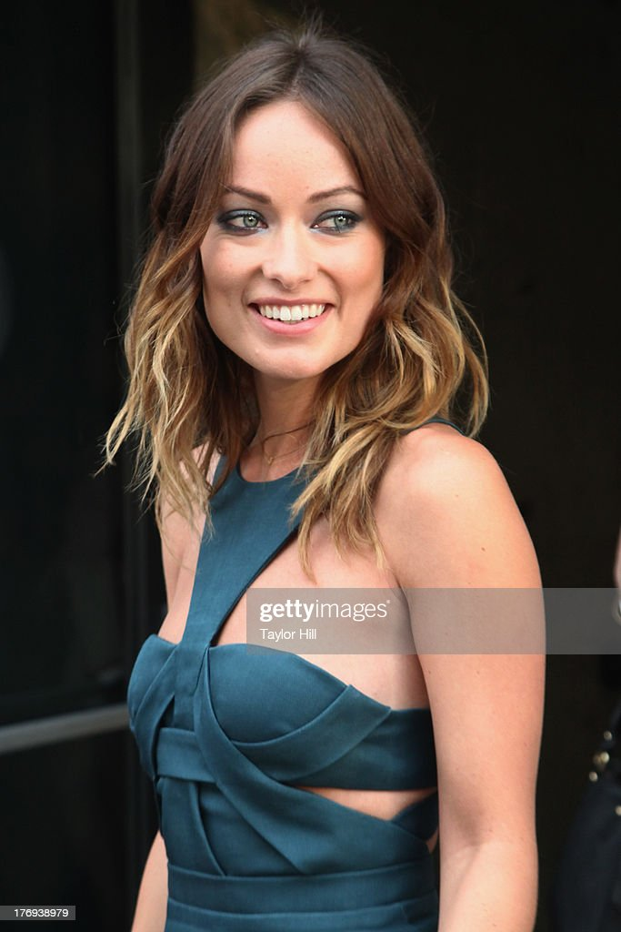 Actress <a gi-track='captionPersonalityLinkClicked' href=/galleries/search?phrase=Olivia+Wilde&family=editorial&specificpeople=235399 ng-click='$event.stopPropagation()'>Olivia Wilde</a> attends the 'Drinking Buddies' screening at Nitehawk Cinema on August 19, 2013 in the Brooklyn borough of New York City.