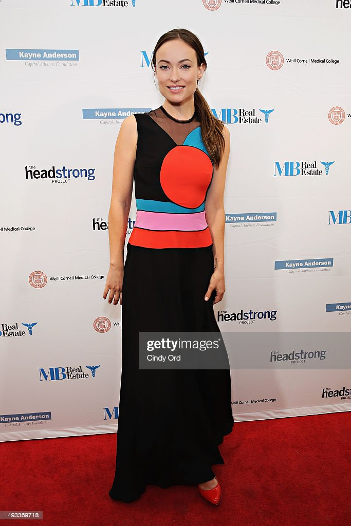 Actress Olivia Wilde attends The Headstrong Project's 3rd annual Words of War event at One World Trade Center on October 19, 2015 in New York City.